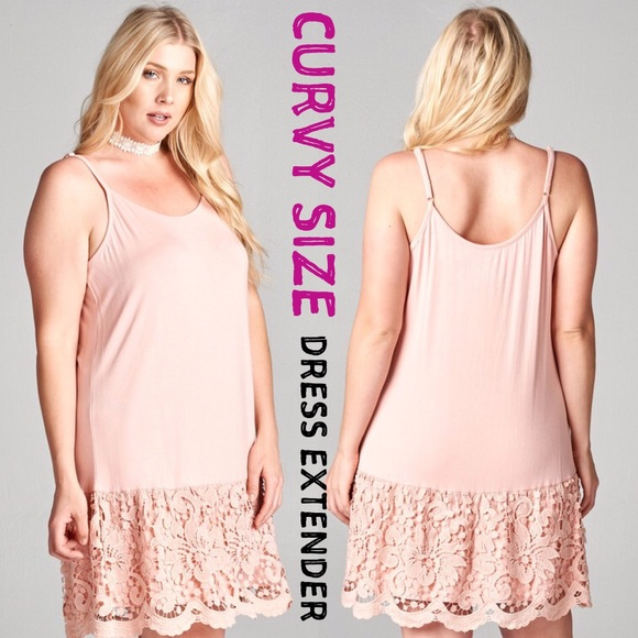 Dresses Plus Size Lace Dress Extender Slip Peach Pink Tank Poshmark